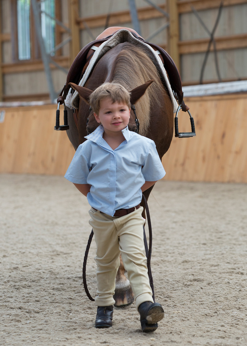 Little boy and pony